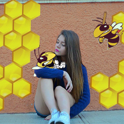 freetoedit bees beehive cartoons surreal