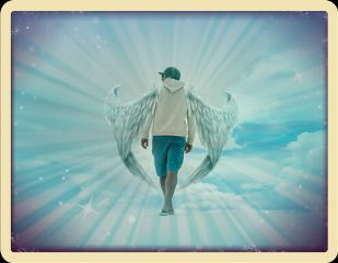 freetoedit angel man walking alone
