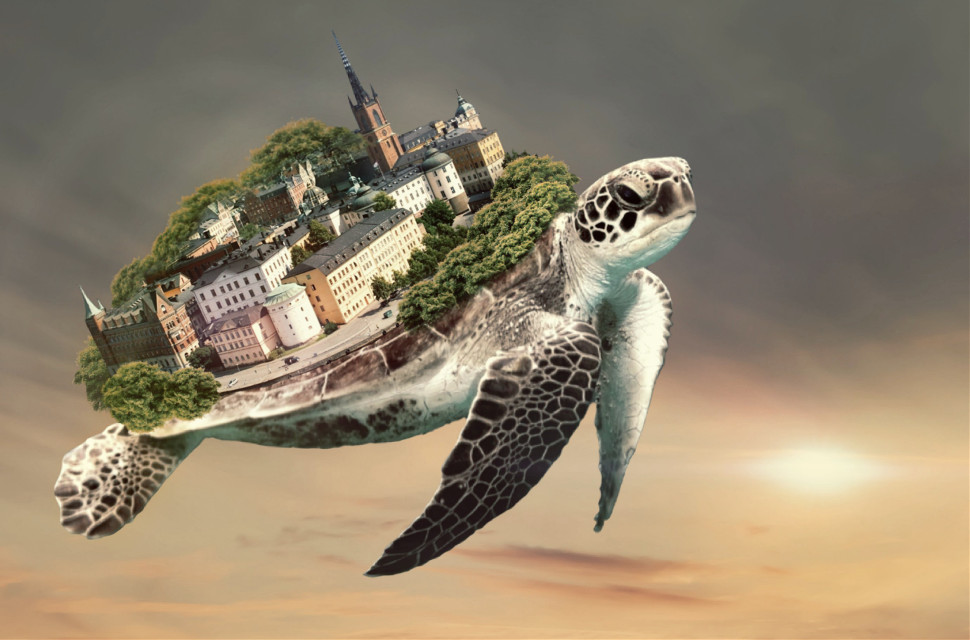 My Stockholm 💜 I thought I had lost the digital copy of this but found it in a deleted email... I post it here so I won't lose it again 😀 #stockholm #surreal Turtle from @freetoedit