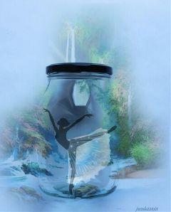 freetoedit magicsilhouette jar ballerina blue