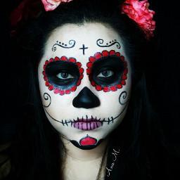 catrina halloween halloweenmakeup people dayofthedead freetoedit