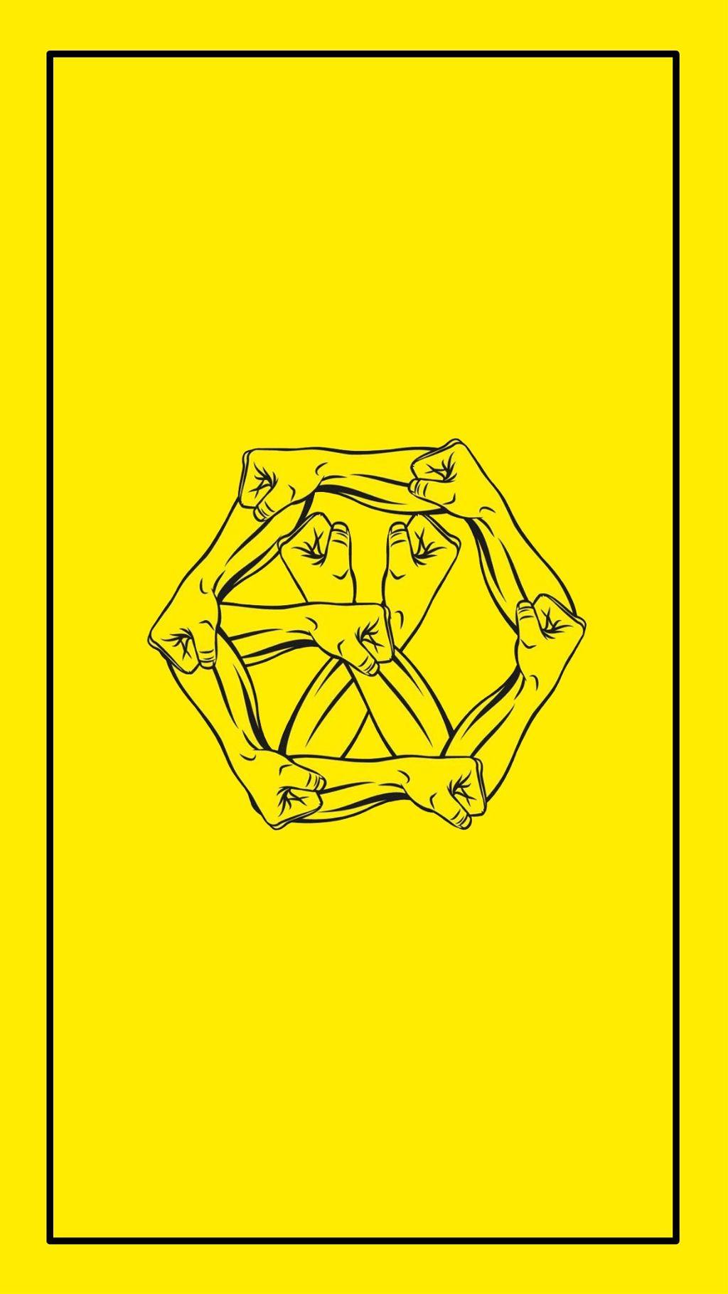Exo Power Logo Wallpaper Yellow Xiumin Suho Chen Chanye