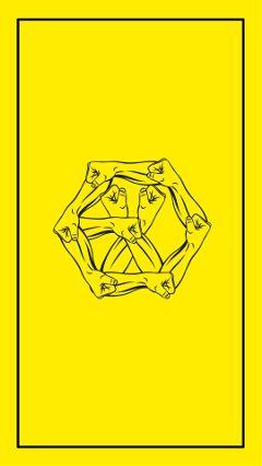 exo power logo wallpaper yellow freetoedit