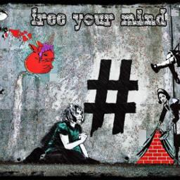 banksy collage streetart