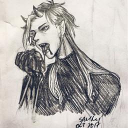 sketch gore blood oc sammitoons