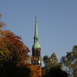 autumn colorfulleaves trees churchtower nofilter