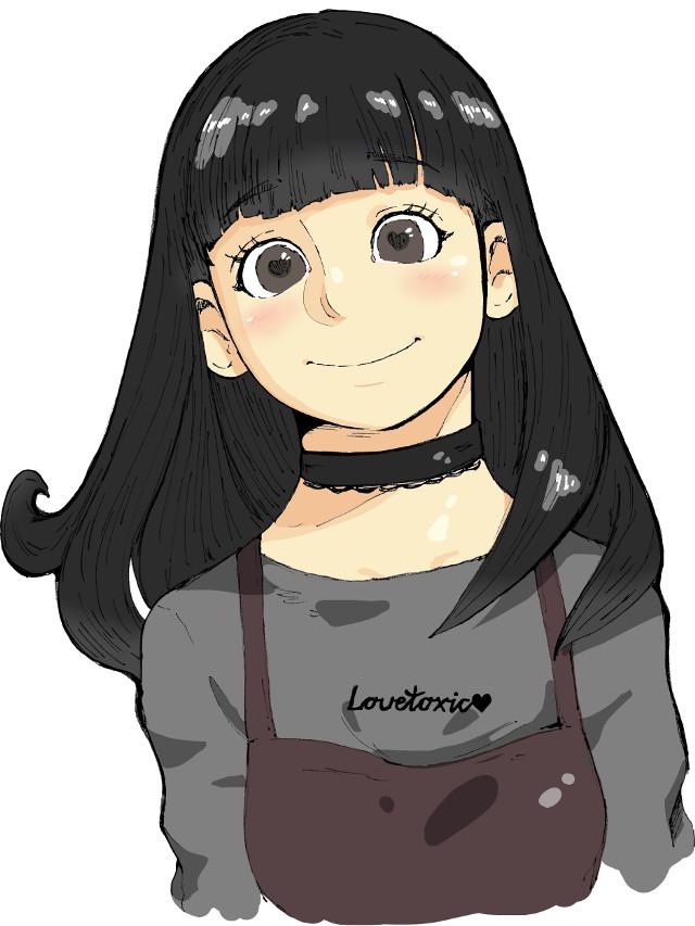 #drawing #girl #choker #charming