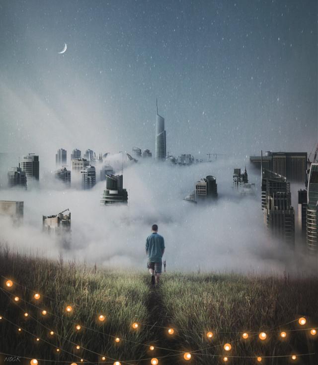 🌟 Exploring The Skies 🌟 . . . . #man #lights #road #skies #beauty #moon @pa
