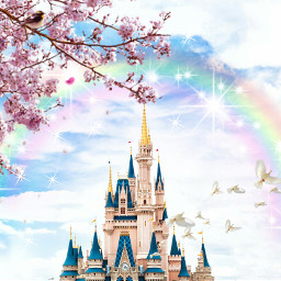 freetoedit fairytale disneyland castle rainbow