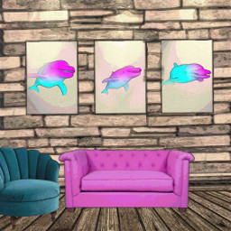 freetoedit dolphinsremix home interior decor