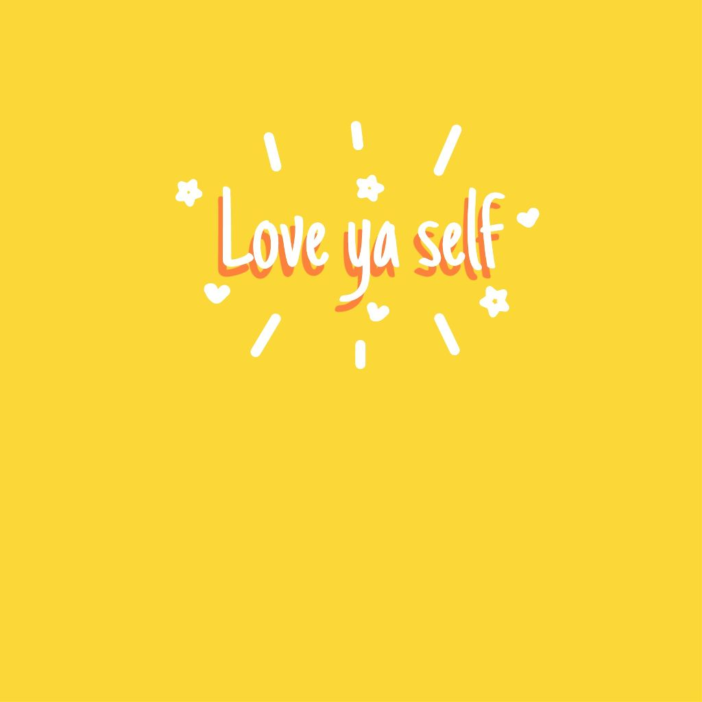 Best Quotes From The Yellow Wallpaper: Love Ya Self Wallpaper Yellow Love Loveyaself Tumblr