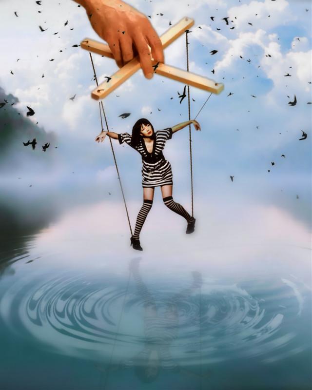 #lake #water #hand #girl @pa @freetoedit #surreal #surrealist #myedit