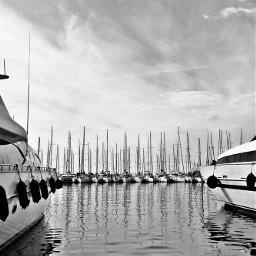 greece boats bnw sea bnwphotography