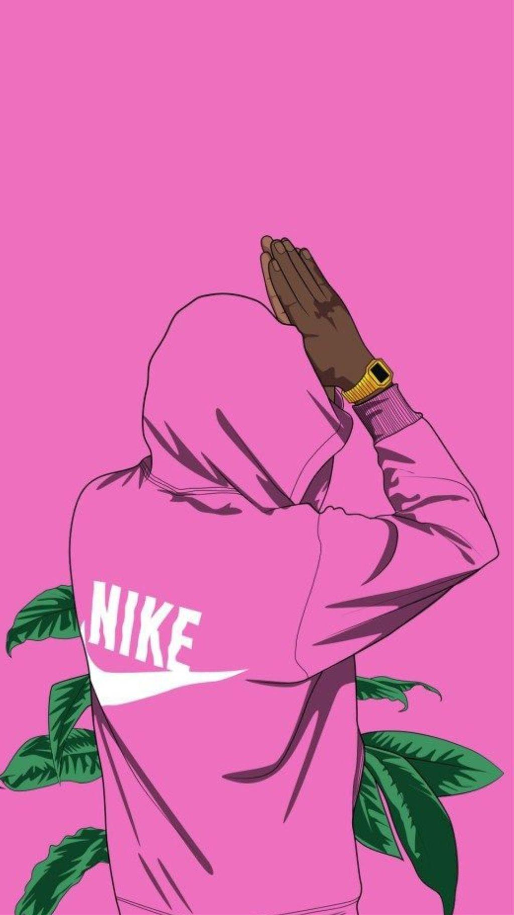 Wallpaper Nike Pink Boy Drawings Wallpapers