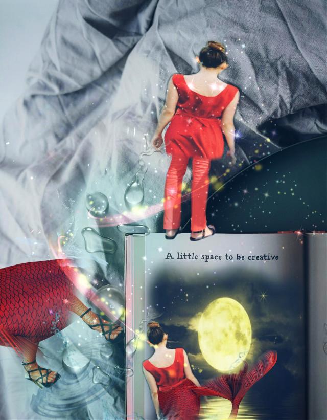 mermaid walks #mermaid #notebookremix #glitterstickerremix #fantasy