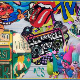 90s trolls ghettoblaster watercoloreffect soulmagiceffect freetoedit