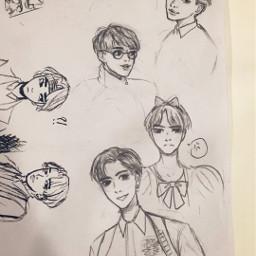 sketch doodle fanart illustration bts