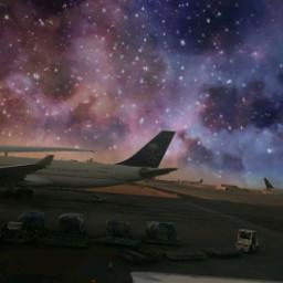 freetoedit galaxy jet airport plane