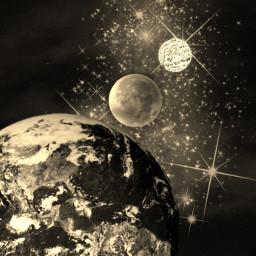 freetoedit supermoon space moon sun