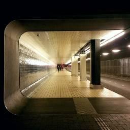strandedin amsterdam bynight tunnel architecture