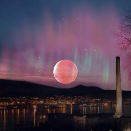 freetoedit supermoon bergen norway