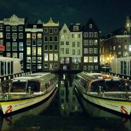 strandedin amsterdam boats nightshot picsart