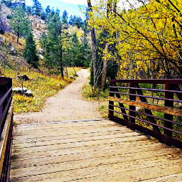 freetoedit coloradomountains pathways bridge fall