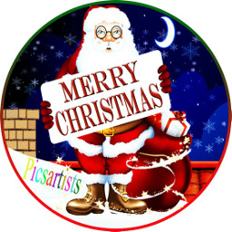 snow santa xmas freetoedit