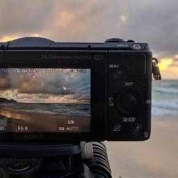 mobilephotography sunset beach