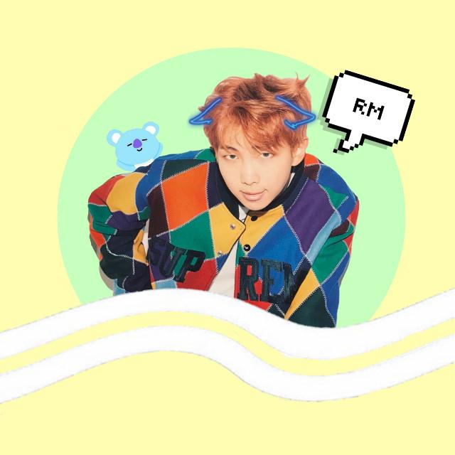 Hope u like it 😊💟 @dream_catcher_1186 #rm #kimnamjoon #koya #bts #kpop #army #fanart #myedit #bt21 #colors #namjoon😀💖
