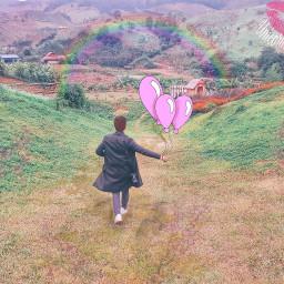freetoedit pink ballon paint sticker