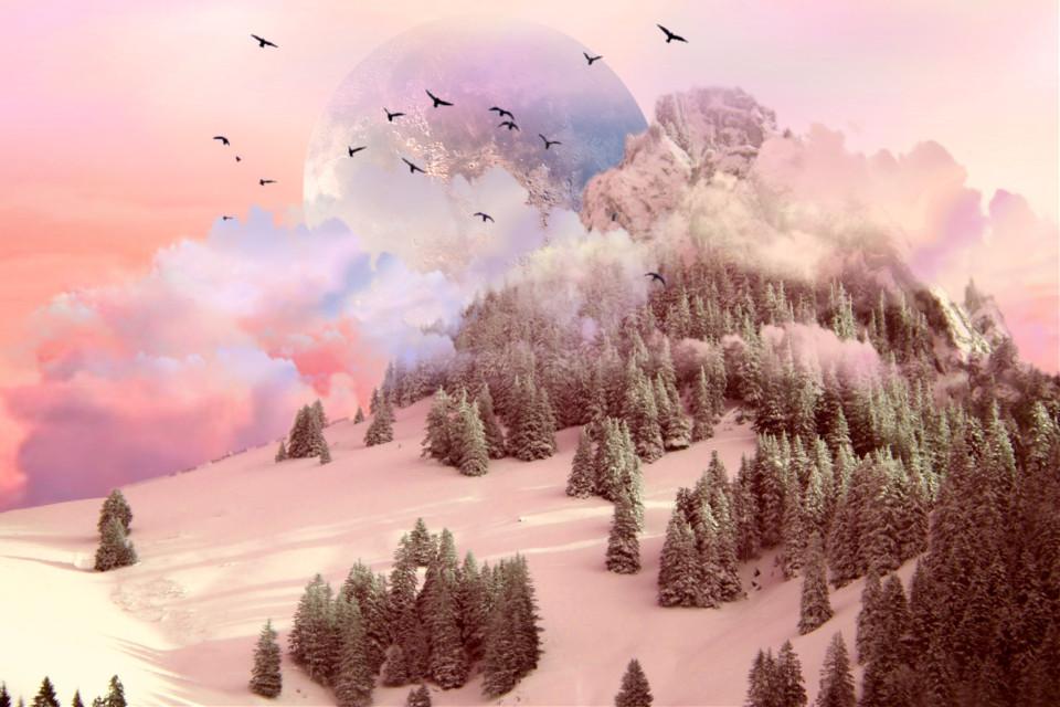 #dailyremixmechallenge #dailyremix #nature #earth #forest #mountain #snow