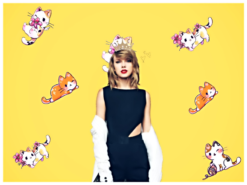 #taylorswift #cats #kittys #queen #crown