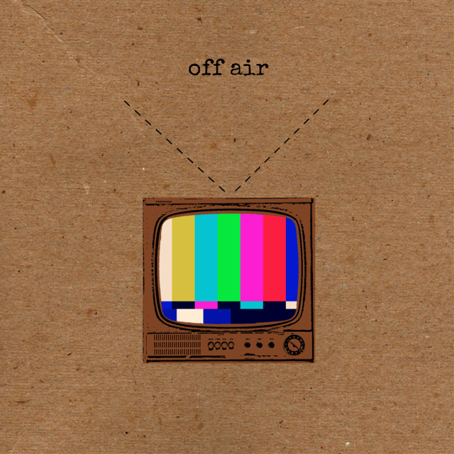 Off Air #collage #cutandpaste #composition #digitalart #edit #graphic #offair #tv #system #antenna #signal #colourful #brown