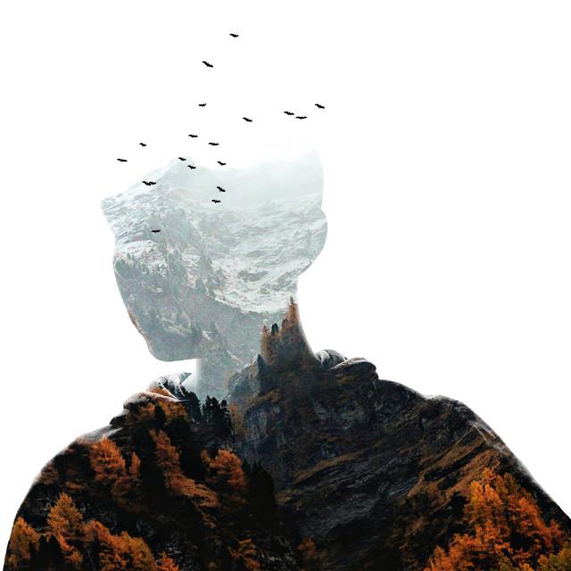 #surreal #surrealism #photography #nature #mountain #doubleexposure #guy #man #shadow #silhoutte #pa #picsart