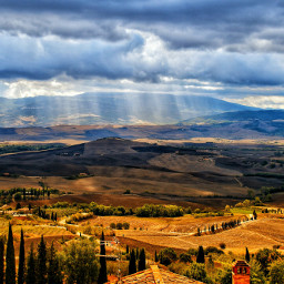 photography italy travel tuscany toscana clouds summer valdorcia pienza