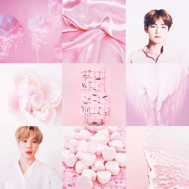 #bts #edit #vmin #vminedit #jimin #taehyung #V #pastel #pink #collage