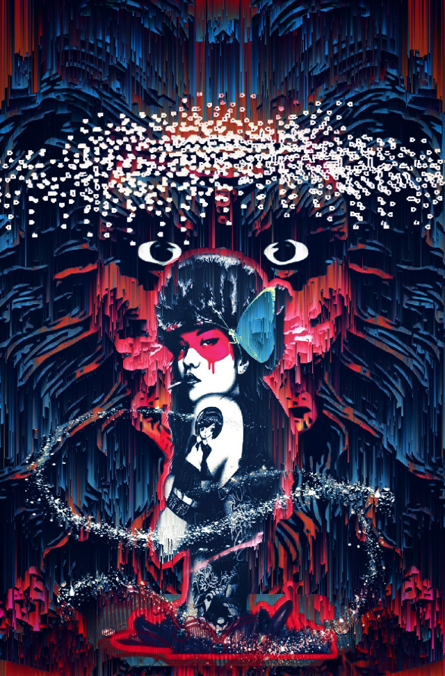 I loved her, not for the way she danced with my angels but for the way the sound of her name could silence my demons. - CP #findac#badass#chick#primal#monster#pixels#drip#melt #red #darkart #cool#digitalart #beautiful#trippy#weird#popsurrealism remixed from@sterayb