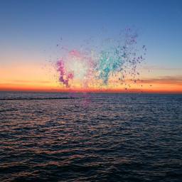 playwithpicsart sea sunset colorful