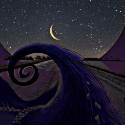 freetoedit thenightmarebeforechristmas blendedimages themoonlight beautiful