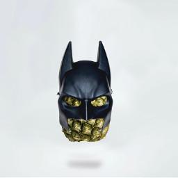lowkey notapinnaple batpinapple batman mask freetoedit
