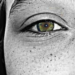 ojo blackandwhite cc color pecas