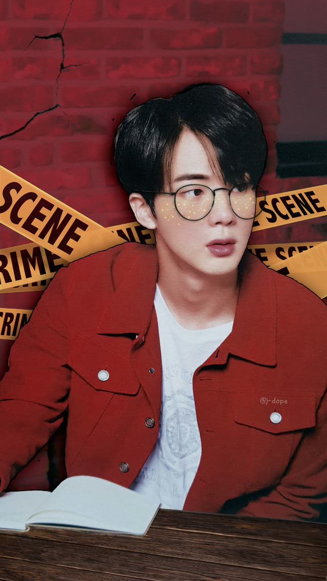 Detective Seokjin 🔎  Please do not repost elsewhere ♡♡ __________________________________________ #bts #btsedit #bangtan #jin #btsjin #kimseokjin #seokjin #detective #kpop  #red