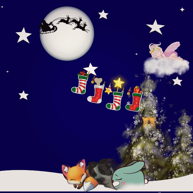 #stockingsstickerremix #santa #twilighteffect #comiceffect #sleep #christmas