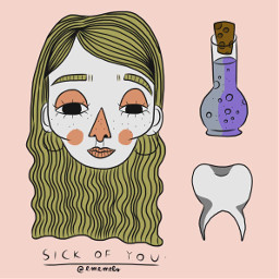 digitalart sick teeth adobeillustrator