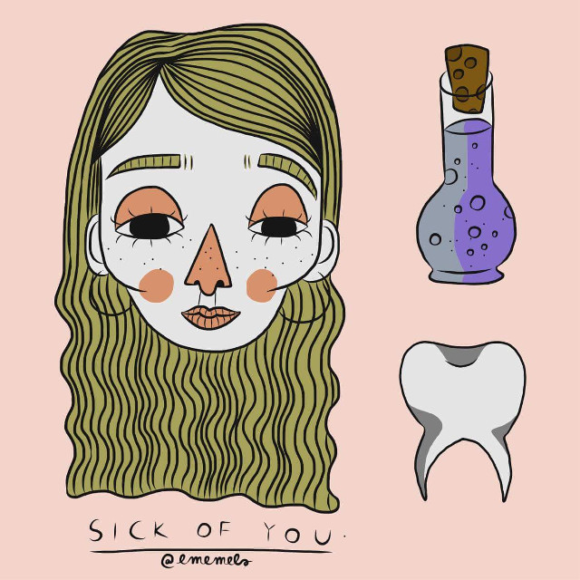 sick of you #digitalart #sick #teeth #adobeillustrator