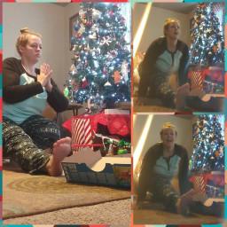 freetoedit yoga yogaeverydamnday christmas christmasspirit