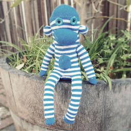 stuffedanimal blue nature blur photography pcimadethis pcartycrafty