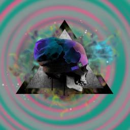tinyplanet skullsticker triangles stickers skullhead