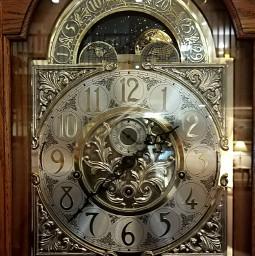 grandfatherclock clock time numbers brass freetoedit